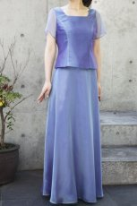 画像2: 色・生地が選べるコーラス用スカート【ロング/ブルー/オーガンジー】 (2)