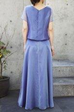 画像3: 色・生地が選べるコーラス用スカート【ロング/ブルー/オーガンジー】 (3)