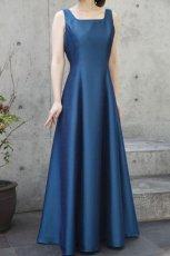 画像2: 色・生地が選べるコーラス用ドレス【ブルー/ライトシャンタン】 (2)