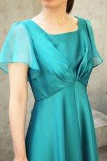 画像4: 色・生地が選べるコーラス用ドレス【袖付き/グリーン/スーパーソフトオーガンジー】 (4)