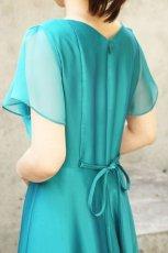 画像5: 色・生地が選べるコーラス用ドレス【袖付き/グリーン/スーパーソフトオーガンジー】 (5)