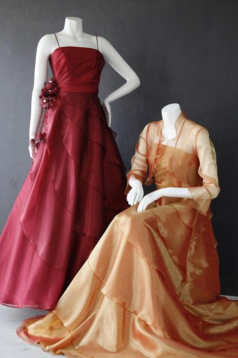 ドレス(レッド&シャンパンゴールド)