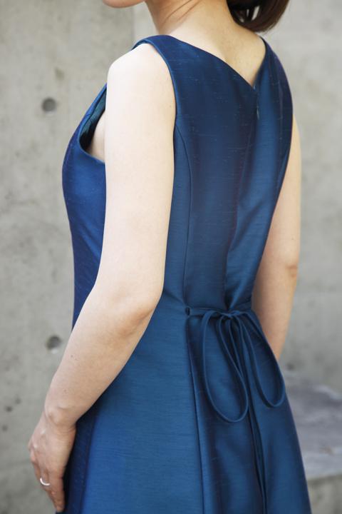 色・生地が選べるコーラス用ドレス【ブルー/ライトシャンタン】